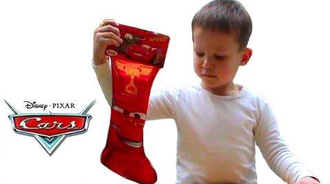 Видео Тачки носок с подарком открываем сюрпризы игрушки Cars