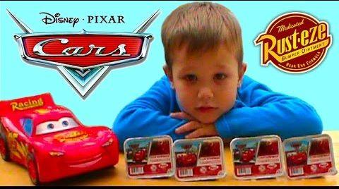 Видео Тачки2 Zaini киндер яйца сюрприз игрушки McQueen