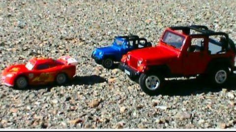 Видео Трактор Толо с прицепом Молния Маккуин и Jeep McQueen