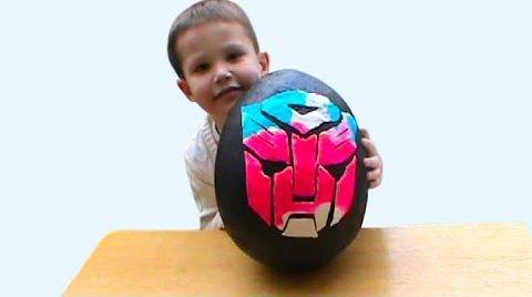 Видео Трансформеры огромное яйцо с сюрпризом открываем игрушки