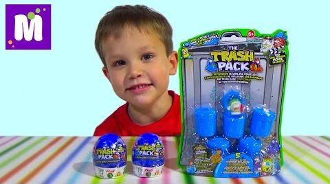Видео Трешпэк набор игрушек сюрприз в коробочке распаковка Trashpack