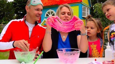 Видео Три ЦВЕТА лизун челлендж РОДИТЕЛИ все смогут... 3 colors SLIME challenge PARENTS edition