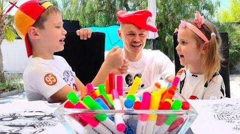 Видео Три маркера ЧЕллЕнДЖ на футболках и в бассейне