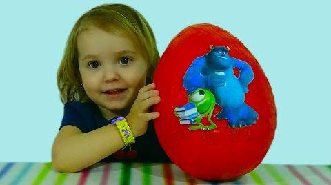 Видео Университет Монстров яйцо сюрприз/ обзор игрушек