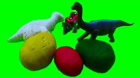 Видео Веселые динозавры сюрприз игрушки открываем