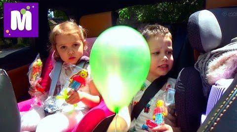 Видео ВЛОГ Макс с кошечкой Муркой едут в садик и в МакДональдс за игрушками Хеппи Мил