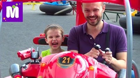 Видео VLOG Парк аттракционов Одесса Лунапарк машинки квадроциклы