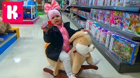 Видео ВЛОГ/ Покупаем игрушки / Катя играет на детской площадке