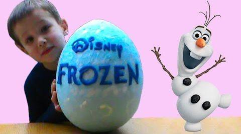 Видео Волшебные Холодное сердце огромное яйцо с сюрпризом открываем игрушки