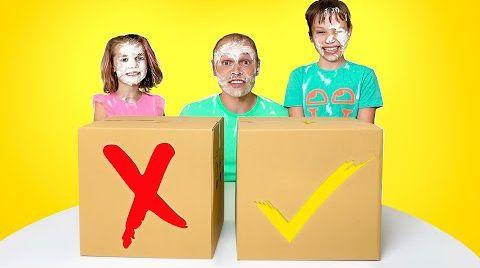 Видео Выбери правильную коробку челлендж