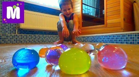 Видео Выращиваем в воде большие шары орбиз