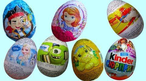 Видео Яйца с сюрпризом/ обзор игрушек