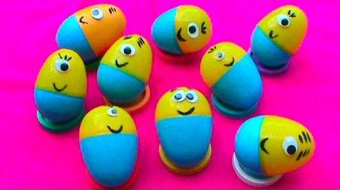 Видео Яйца с сюрпризом / обзор игрушек