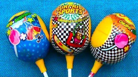 Видео Яйца сюрприз Чупа Чупс открываем игрушки Магия Спорт