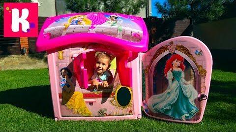 Видео Замок Принцесс / большой игровой домик для девочек