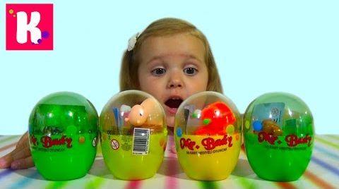 Видео Заводные животные в яйцах/ сюрприз игрушки/ распаковка