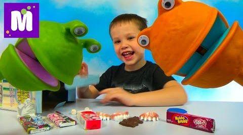 Видео Зубы и жвачки беззубые игрушки на палочке Puppet on a stick